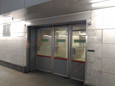 Противопожарная автоматическая штора (преграда) Fireshield-EI60 в PNK Парк — Валищево