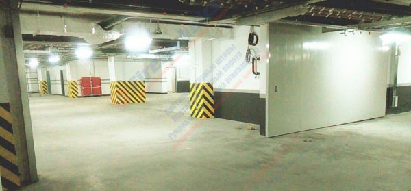 Противопожарные автоматические откатные ворота модели FireTechnics-Р EI60