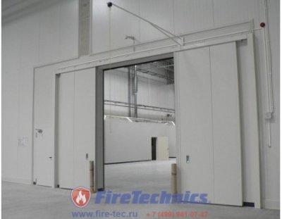 Противопожарные автоматические откатные-раздвижные ворота